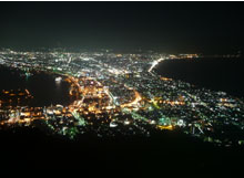 The magnificent view from Mt. Hakodate