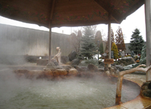 Hot springs found in urban areas
